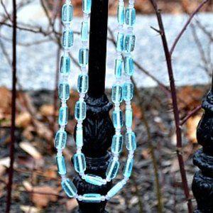 80s Vintage Beach Glass Necklace
